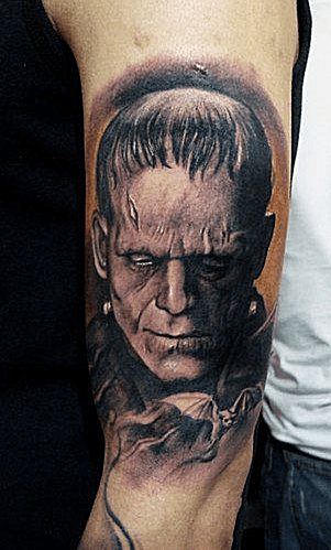 Top 5 des tatouages ​​de Frankenstein Monster