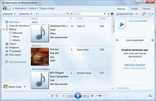 Utilizzare Windows Media Player Player